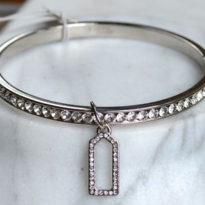 Coach Pave Bangle Bracelet, Clear Crystals NWT